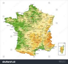 Marseilles France Map by Francephysical Map Stock Vector 566085241 Shutterstock