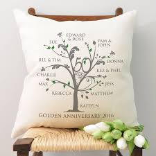 personalised golden anniversary family tree cushion by a type of