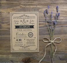 rustic wedding invitations vintage rustic diy wedding invitation template