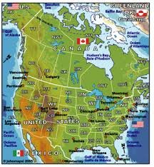 map of united states and canada united states canada map major tourist attractions maps