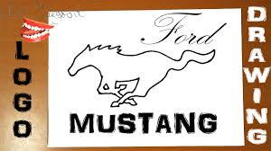mustang horse logo how to draw a horse easy for kids ford mustang car logo wild