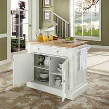 kitchen island with cutting board butcher block cutting board top kitchen island in white finish