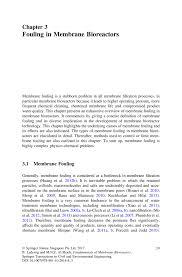 fouling in membrane bioreactors springer
