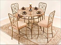 kitchen wooden dining chairs wrought iron table metal dining