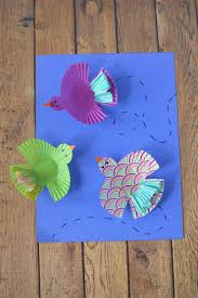 cupcake wrapper birds kids craft frugal mom eh