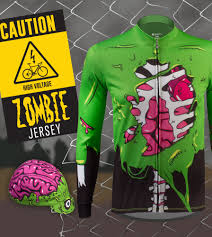 Halloween Usa Grand Rapids Zombie Long Sleeve Cycling Jersey Perfect For Halloween Cycling