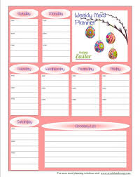 100 monthly meal planning template weekly meal plan