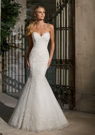 fishtail wedding dress alencon lace on net with wide hemline morilee bridal wedding