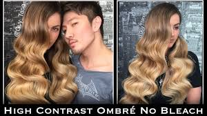 hombre style hair color for 46 year old women high contrast ombré no bleach youtube