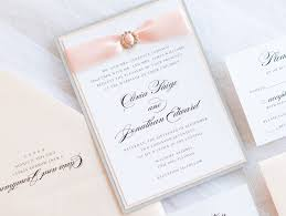 formal wedding invitation formal wedding invitation with satin ribbon and