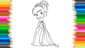 princess strawberry shortcake coloring pages coloring book