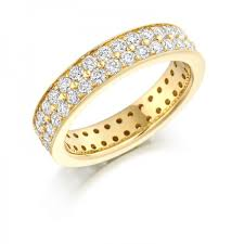 gold eternity rings 18 carat yellow gold brilliant cut diamonds 2 00 carats