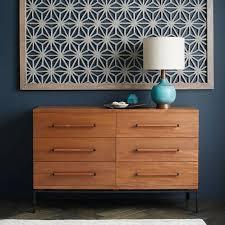 Metal Bedroom Dresser Nash 6 Drawer Dresser Teak West Elm