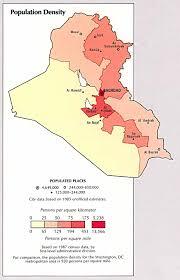 Map Iraq Iraq Population Density Map Iraq U2022 Mappery