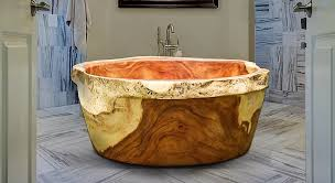 three ton slab from tree makes one of a bathtubs