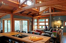 timber frame home interiors reclaimed douglas fir timbers find as trusses in the