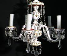Bohemian Glass Chandelier Bohemian Glass For Sale At Online Auction Buy Rare Bohemian Glass