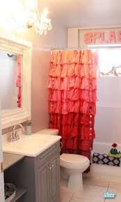 Baby Bathroom Shower Curtains by Ruffle Shower Curtain Kids Bath Pinterest Ruffle Shower