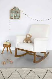 Glider Rocking Chairs For Nursery Baby Nursery Room Idea With Cozy White Glider Rocking