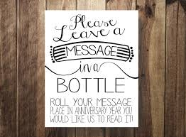 message in a bottle wedding message in a bottle guest book rustic wedding