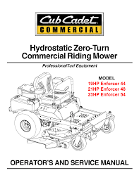 cub cadet 21hp enforcer 48 service manual