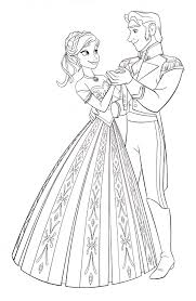 walt disney coloring pages princess anna prince hans walt disney