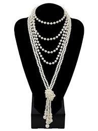 pearl necklace knot images 1920s pearls necklace gatsby accessories 59 quot and 51 jpg