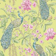 B Q Home Decor by Sophie Conran Hibiscus Citrus Wallpaper Departments Diy At B U0026q