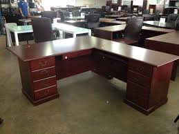 L Shaped Home Office Furniture L Shaped Home Office Furniture Tapered Legs Solid Wood Materials