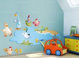 stickers animaux chambre bébé sticker mare à canard
