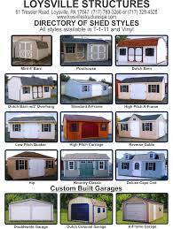 shed styles storage sheds a frame mini barn loysville pa