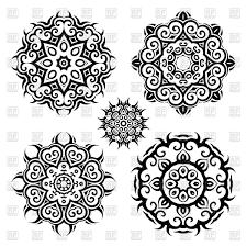 mandala ornament set vector clipart image 78037 rfclipart