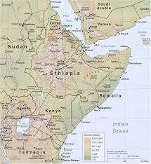 Maps Of Africa by Map Of The Horn Of Africa Somalia Ethiopia