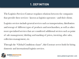 logistics services contract contract template and sample