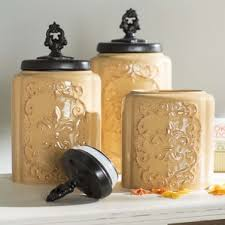 tuscan kitchen canisters kitchen canisters jars you ll wayfair