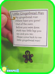 runaway gingerbread man christmas scout swaps craft kit from