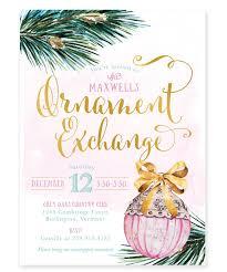 ornament exchange invitation tree ornament invite