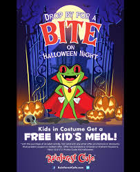 halloween bite night rainforest cafe a wild place to shop and eat