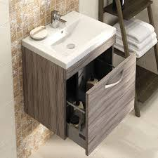 bathroom premier drake wall hung vanity unit with single drawer