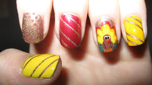 thanksgiving nail art tutorial turkey nail art designs 50 most beautiful thanksgiving nail art