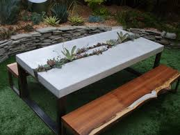 cement table and bench 52 best concrete and wood tables images on pinterest concrete