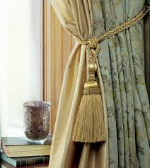 Curtains With Ties How To Tie A Curtain Tieback Tassels
