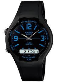 Jam Tangan Casio Karet jual casio casio analog digital jam tangan pria hitam karet
