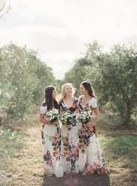 floral maxi bridesmaid dress five of the most beautiful bridesmaid trends for 2014 chic