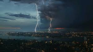 thunderstorm over the city wallpaper wallpaper studio 10 tens