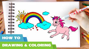 unicorn coloring pages for kids how to draw unicorn coloring pages i rainbow coloring book i learn