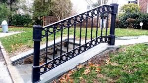 Decorative Wrought Iron Railings 4 Rail Wrought Iron Railing With Decorative Circles And Salem Fence