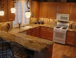 Kitchen Metal Backsplash Ideas Granite Countertop Butter Yellow Kitchen Cabinets Backsplash