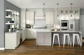 is kraftmaid a cabinet moonshine on maple kitchen with island