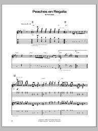 Sofa Frank Zappa Peaches En Regalia Guitar Tab By Frank Zappa Guitar Tab U2013 150905